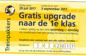 Gratis upgrade 1e klas NS